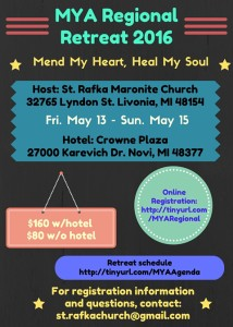 2016 MYA Regional Retreat Flyer